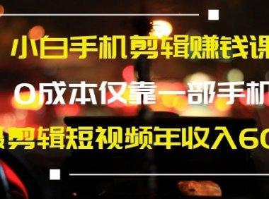 1部手机12天剪出10W+粉丝的短视频账号风口项目